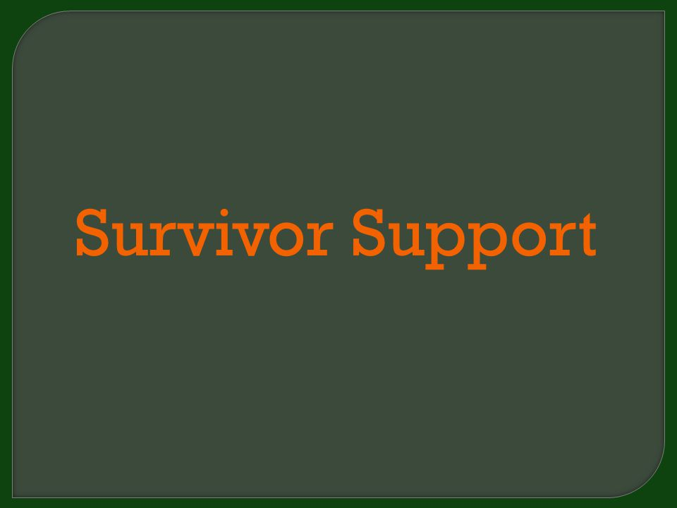 Survivor Support