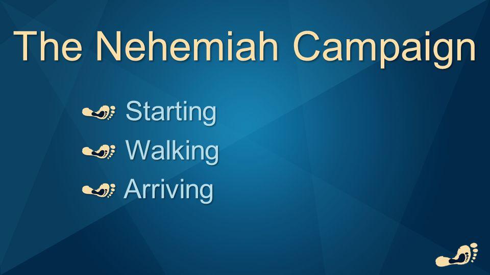 The Nehemiah Campaign Starting Starting Walking Walking Arriving Arriving