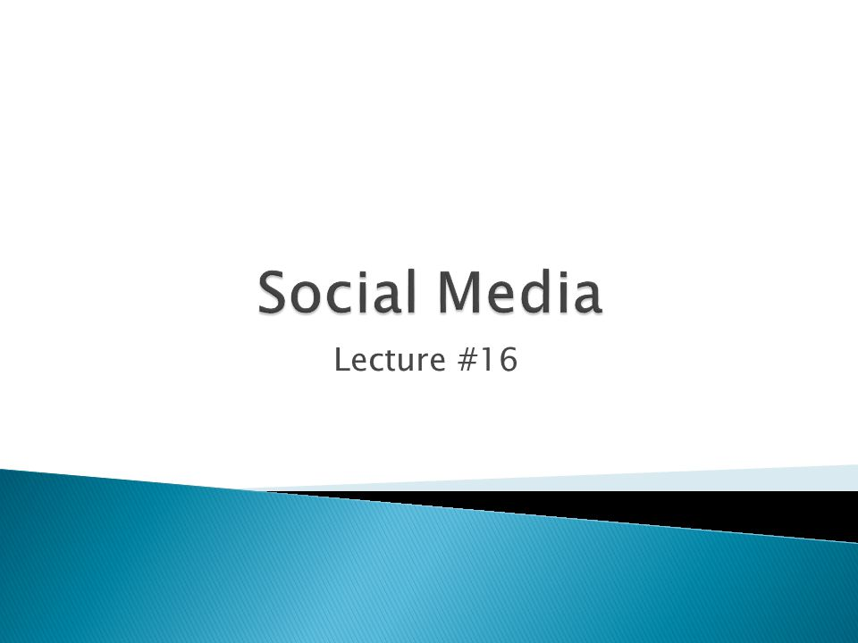 Lecture #16