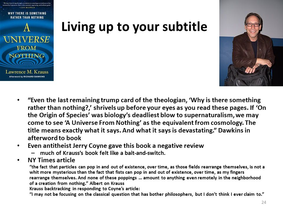 """Living up to your subtitle """"Even the last remaining trump card of the theologian, 'Why is there something rather than nothing?,' shrivels up before yo"""