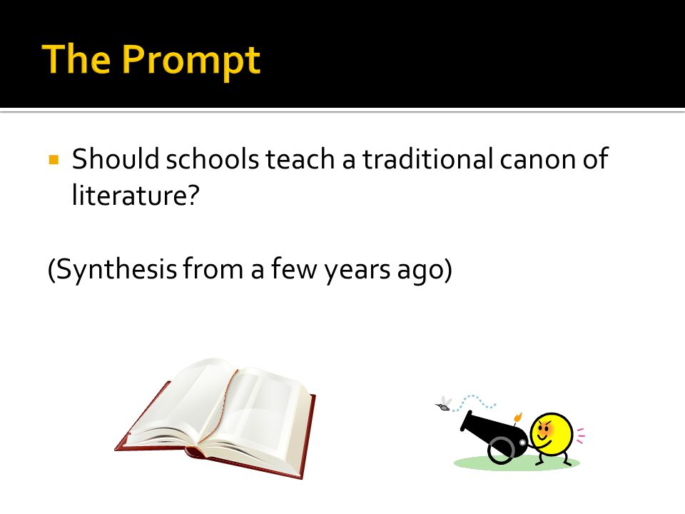  Should schools teach a traditional canon of literature? (Synthesis from a few years ago)