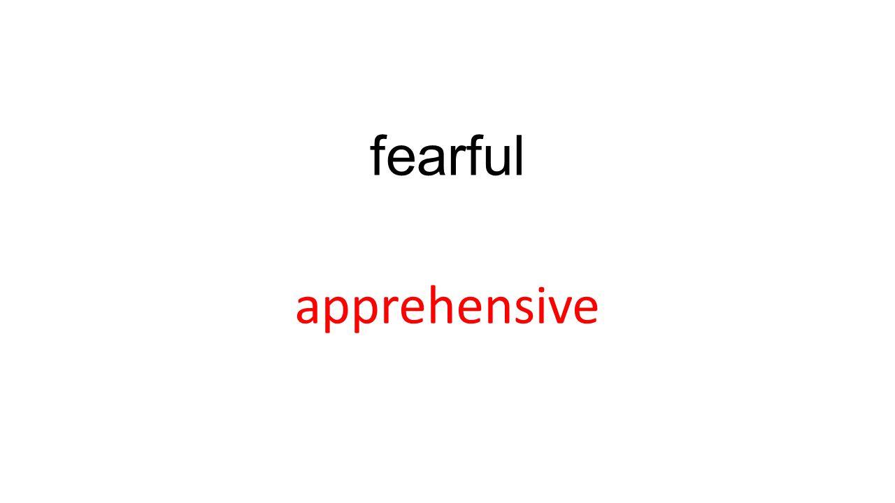 fearful apprehensive