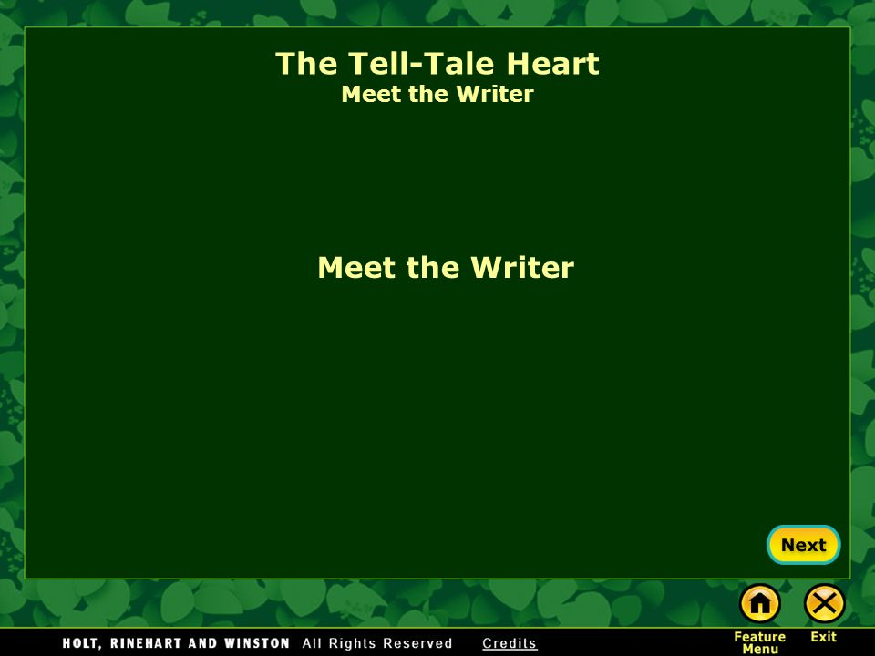 The Tell-Tale Heart Preview the Vocabulary Now check your answers. 1.acute: sharp 2.vexed: disturbed 3.sagacity: good judgment 4.refrain: hold back 5.