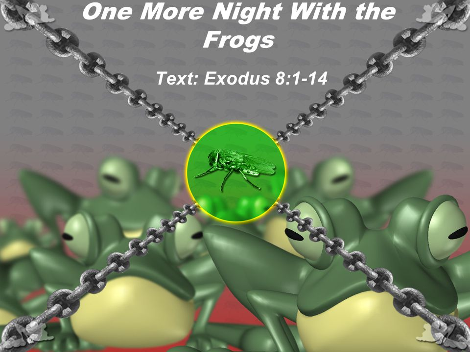 One More Night With the Frogs Text: Exodus 8:1-14
