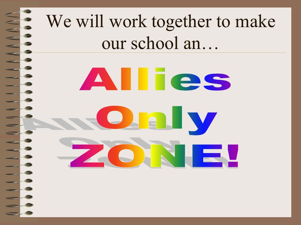 We will work together to make our school an…