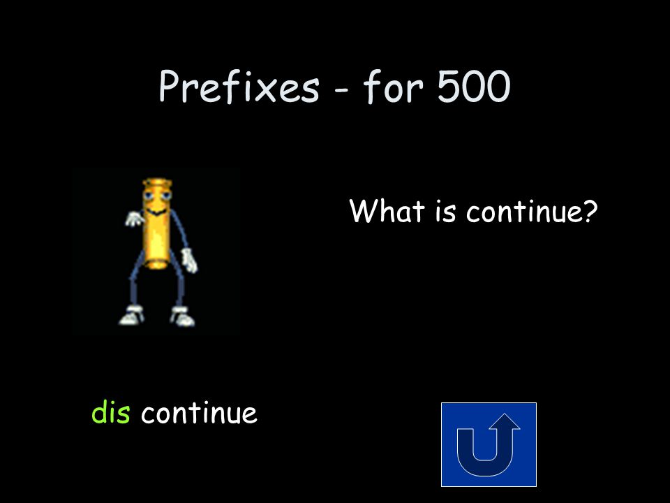 Prefixes - for 500 Remember to phrase your answer in the form of a question.