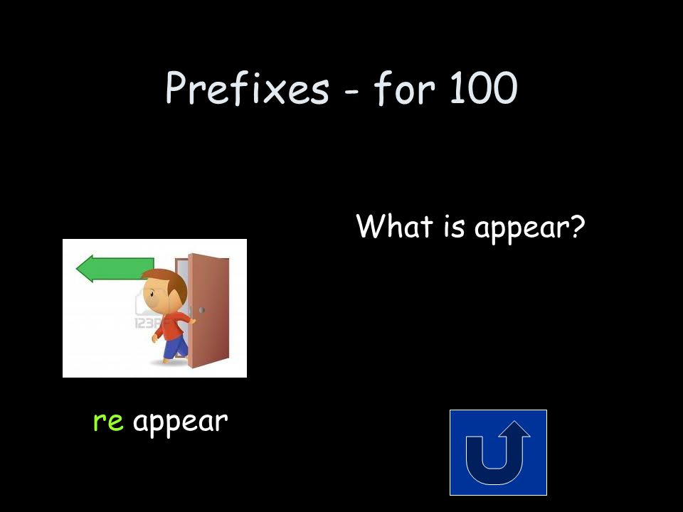 Prefixes - for 100 Remember to phrase your answer in the form of a question.