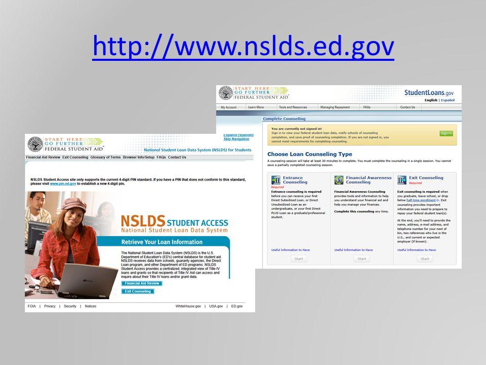 http://www.nslds.ed.gov