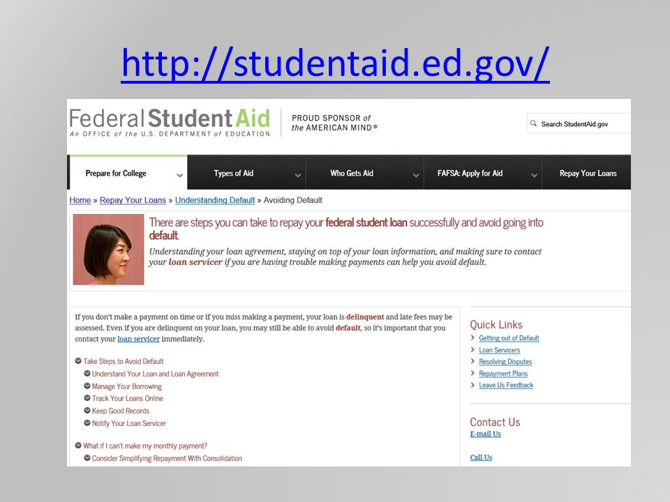 http://studentaid.ed.gov/