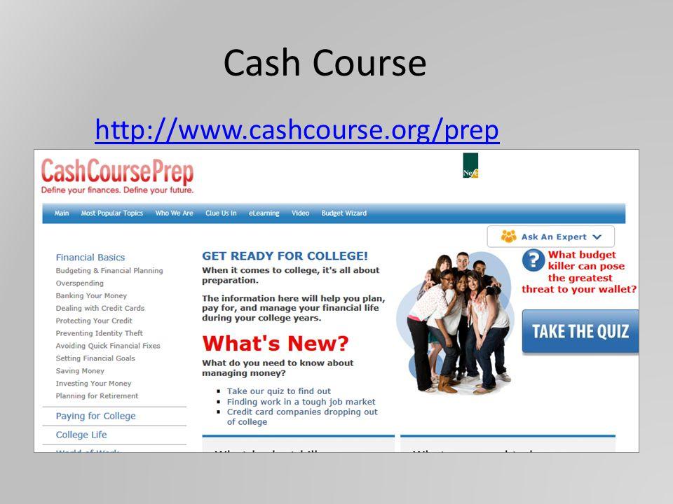 http://www.cashcourse.org/prep Cash Course