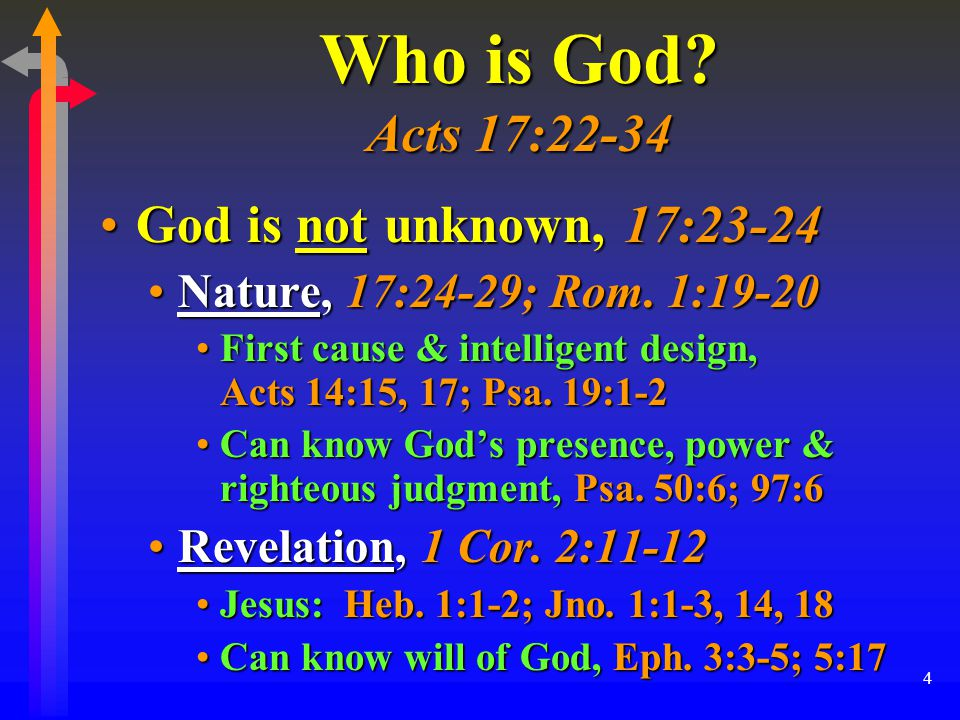 4 Who is God.