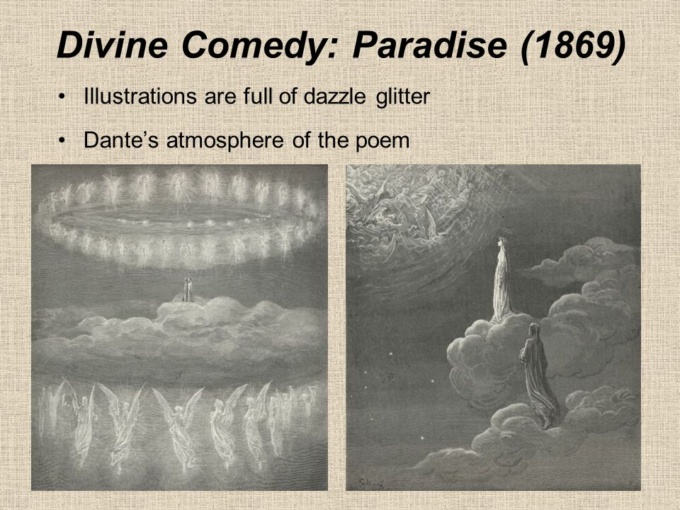 Illustrations are full of dazzle glitter Dante's atmosphere of the poem Divine Comedy: Paradise (1869)