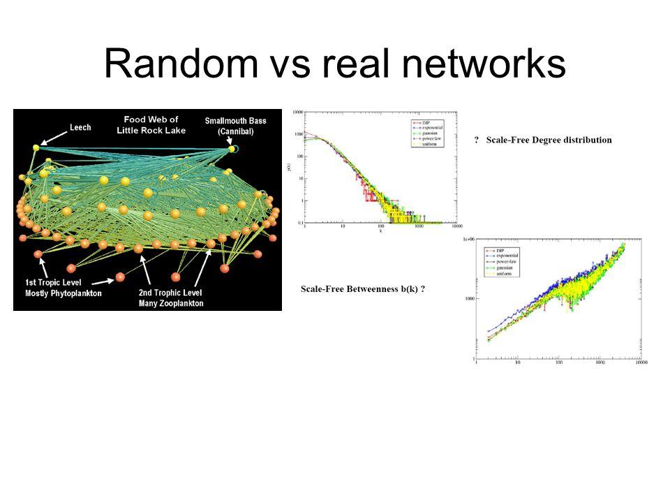 Random vs real networks