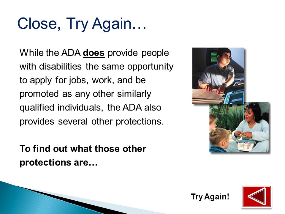 What are the basic protections offered by the ADA employment provisions (ADA Title I).