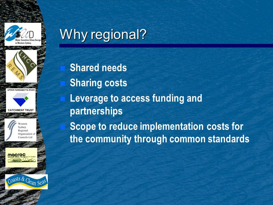 Why regional.