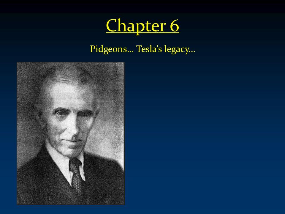 Chapter 6 Pidgeons… Tesla's legacy…