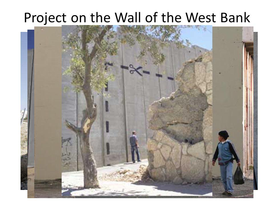 Project on the Wall of the West Bank