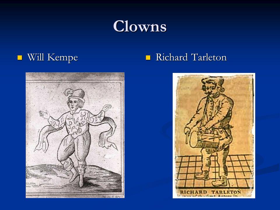 Clowns Will Kempe Will Kempe Richard Tarleton