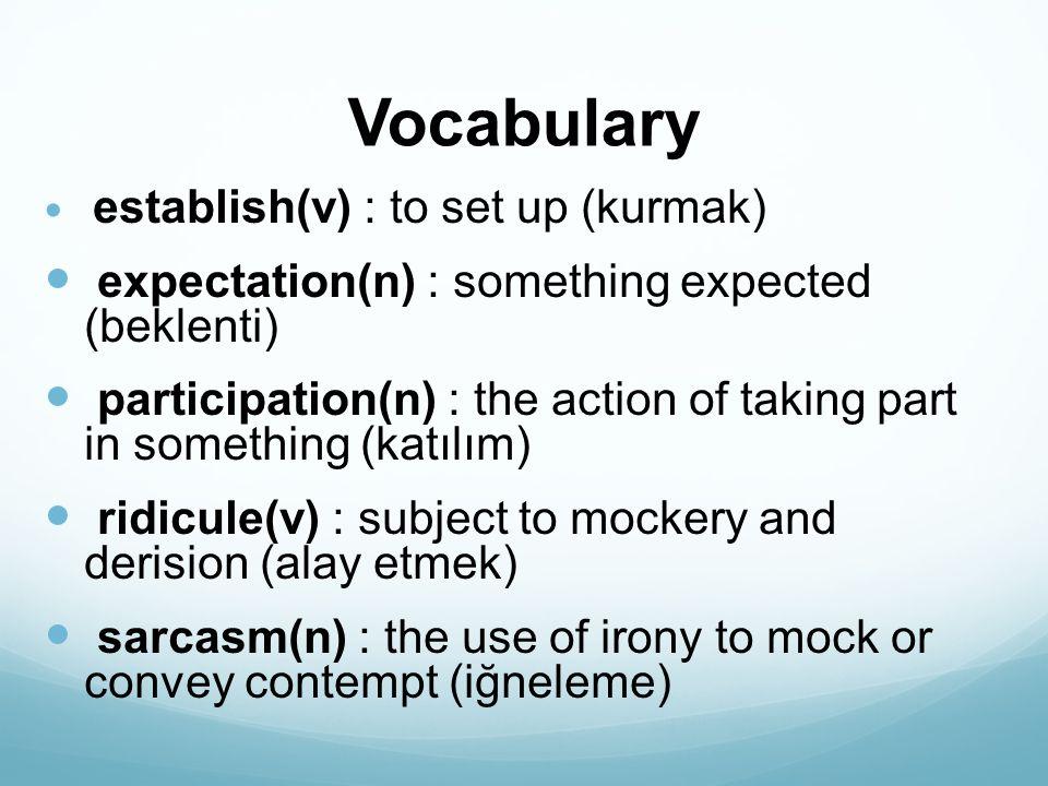 Vocabulary severe(adj) : strict or harsh (sert) punitive (adj) : inflicting or intended as punishment (cezalandırıcı) humiliation(n) : the action of humiliating someone (aşagılamak) appropriate(adj) : suitable (uygun)