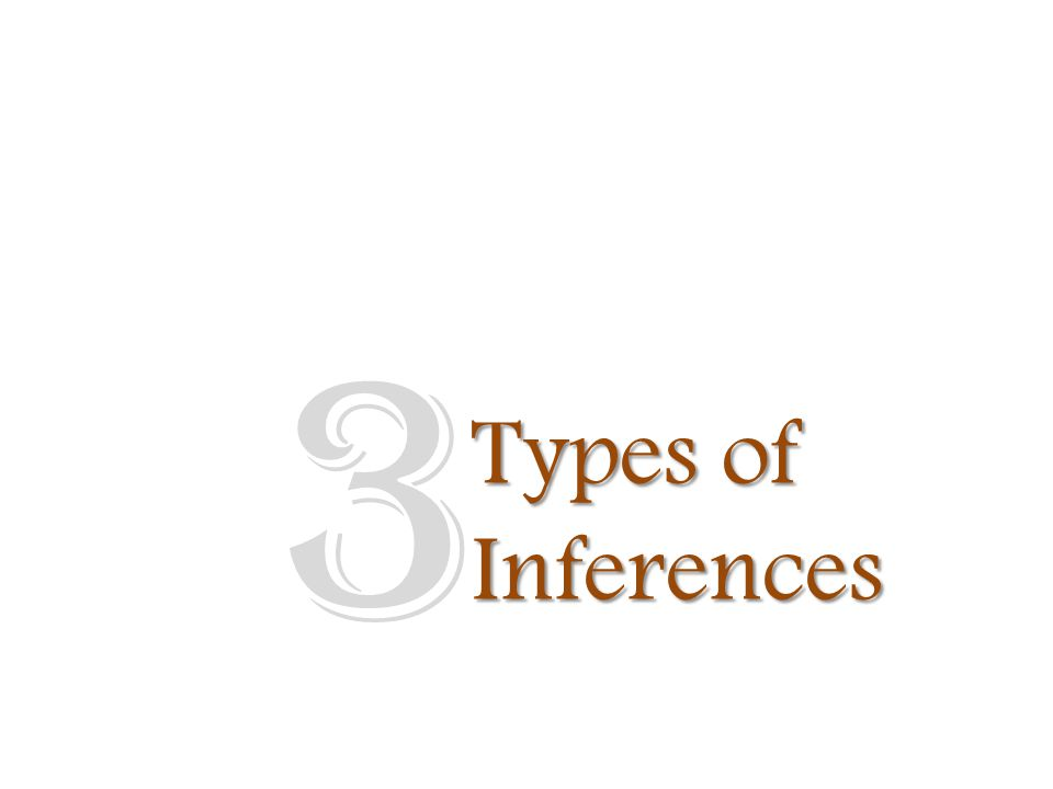 Types of Inferences 3