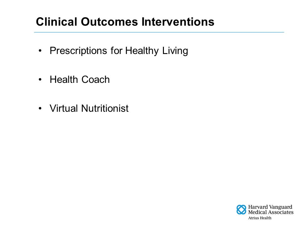 Clinical Outcomes Interventions Prescriptions for Healthy Living Health Coach Virtual Nutritionist
