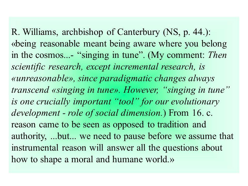 R. Williams, archbishop of Canterbury (NS, p.