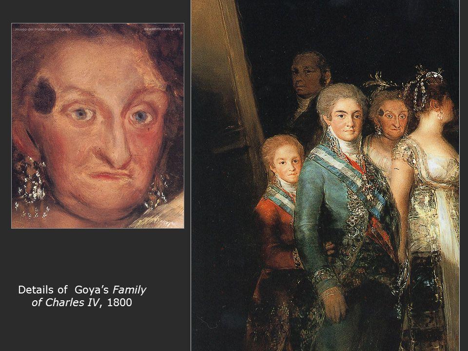 Details of Goya's Family of Charles IV, 1800