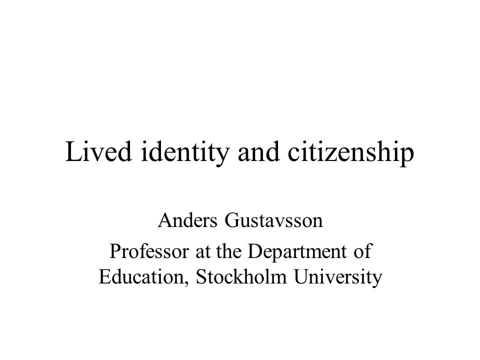 The citizenship as the basis for the freedom of the individual human being  Human beings have the natural right to freedom and property.