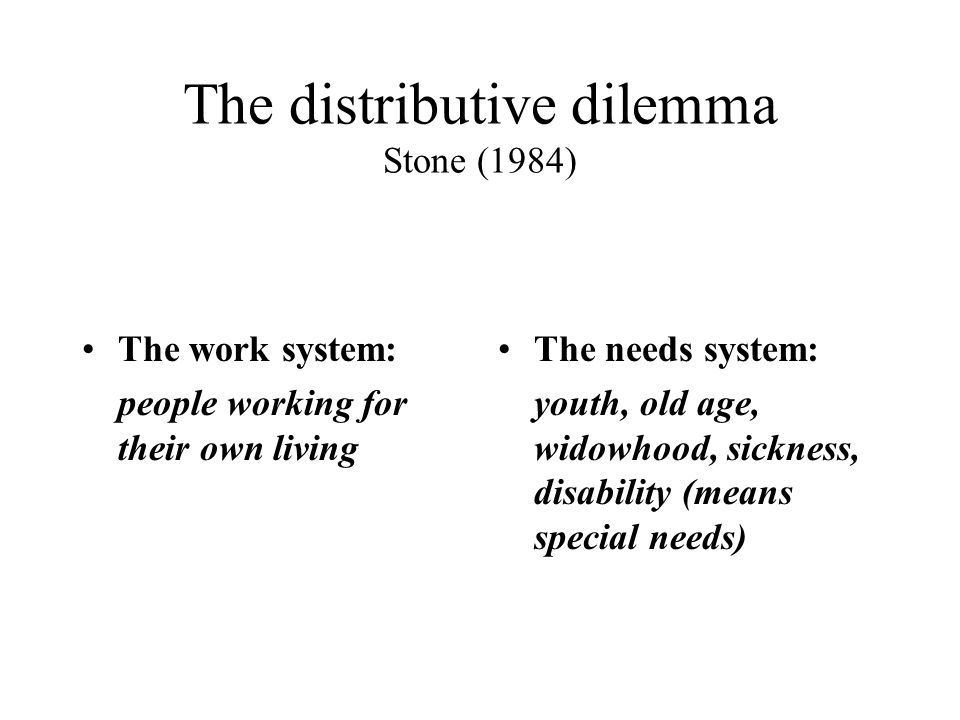 Two ways of managing the distributive dilemma The traditional distinction between first and second class citizenships You have to qualify to be recognized as a full citizen Long-term social benefits means loosing the right to vote, etc The welfare state categorical exemption A special citizenship, in the sense stronger, but also…