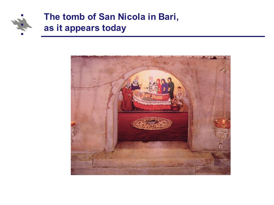 The tomb of San Nicola in Bari, as it appears today
