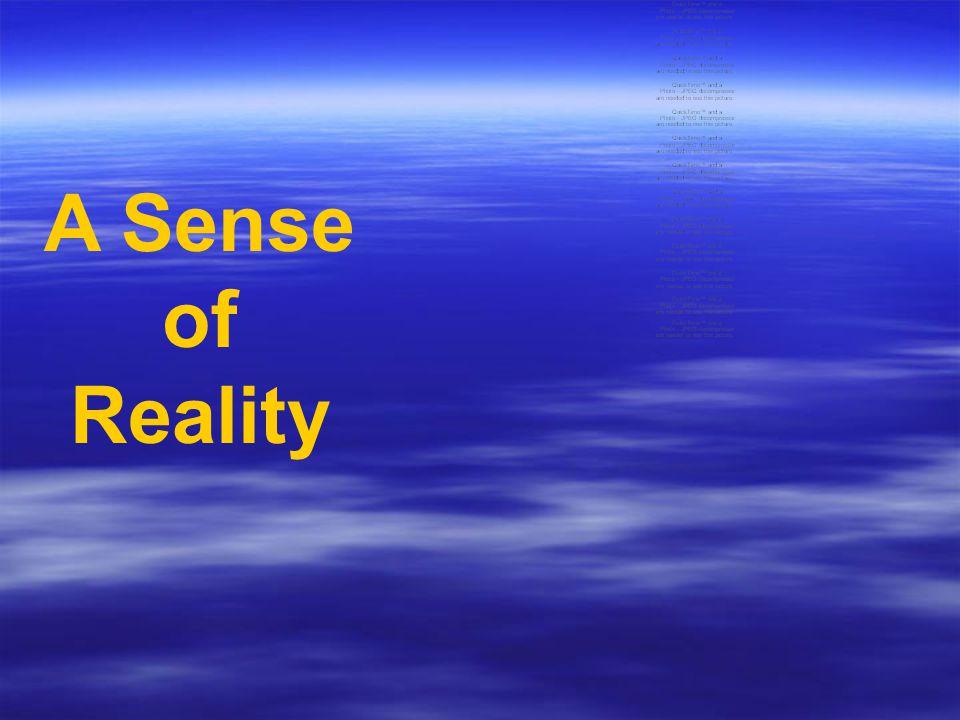 A Sense of Reality