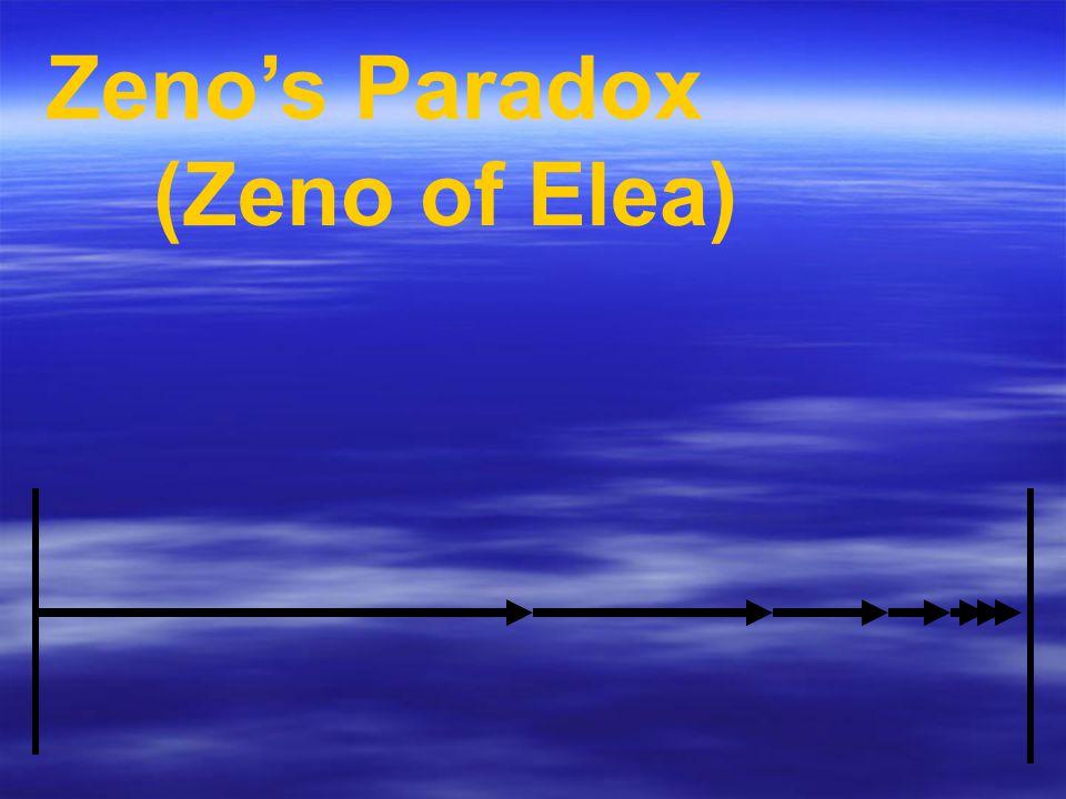 Zeno's Paradox (Zeno of Elea)