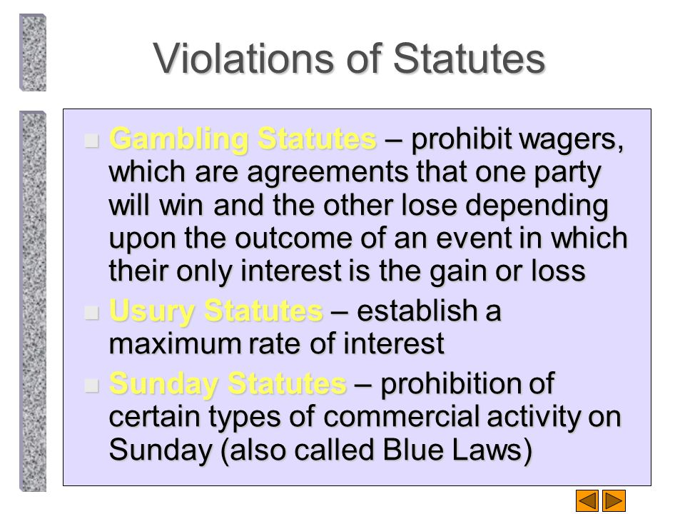 Violations of Public Policy n Common Law Restraint of Trade –unreason- able restraints of trade are unenforceable.