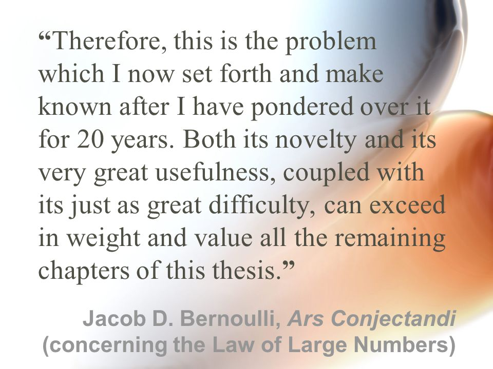 """""""Therefore, this is the problem which I now set forth and make known after I have pondered over it for 20 years. Both its novelty and its very great u"""