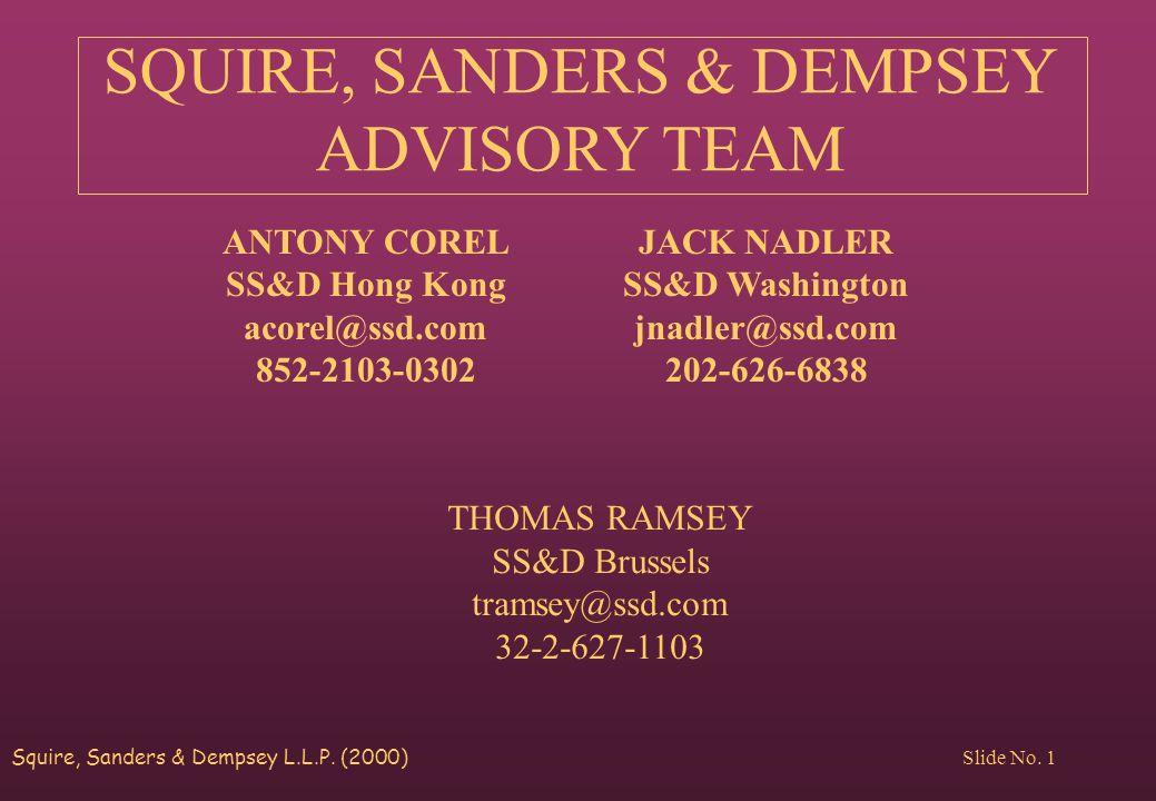 Squire, Sanders & Dempsey L.L.P. (2000) Slide No.