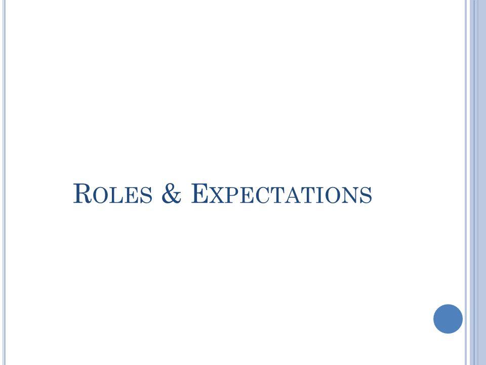 R OLES & E XPECTATIONS