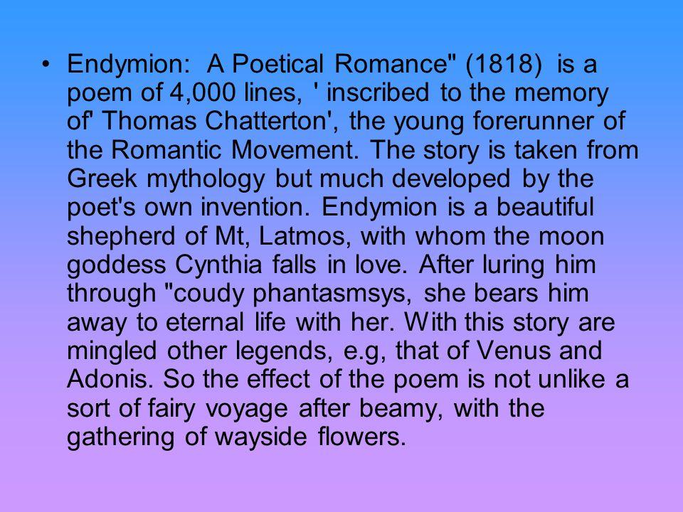 Endymion: A Poetical Romance