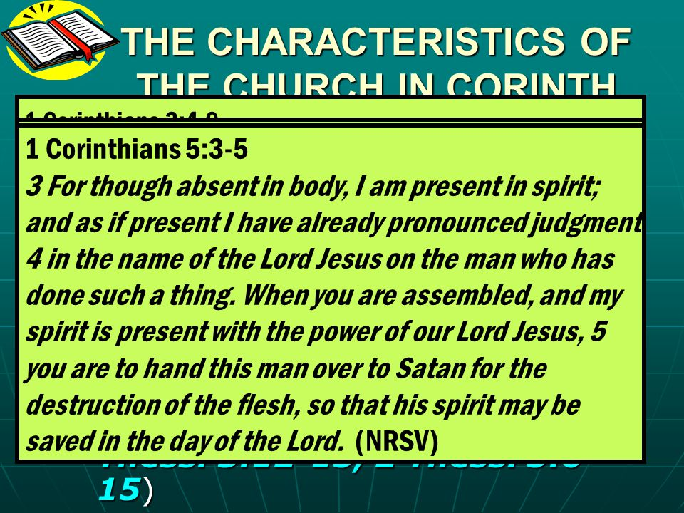 THE CHARACTERISTICS OF THE CHURCH IN CORINTH (4) Brother going to law against brother – 1 Corinthians 6:1-8.