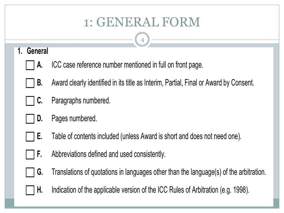 1: GENERAL FORM 4