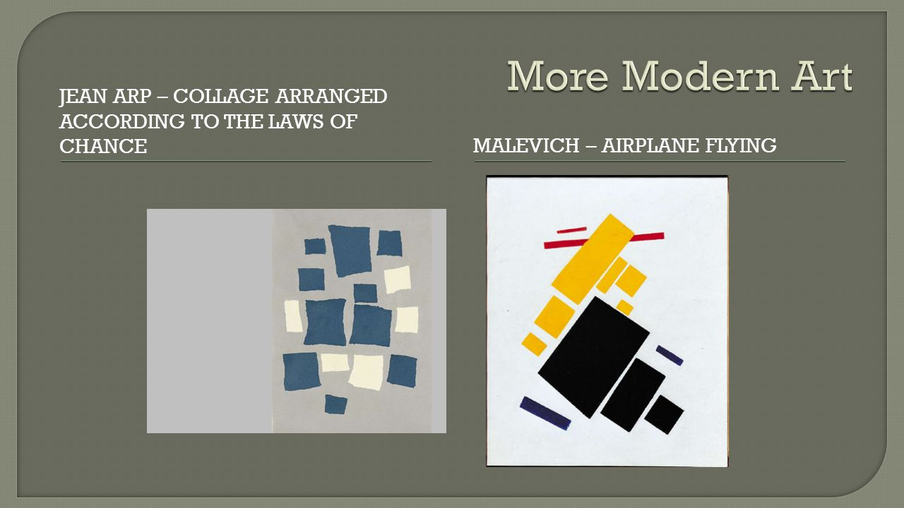 JEAN ARP – COLLAGE ARRANGED ACCORDING TO THE LAWS OF CHANCEMALEVICH – AIRPLANE FLYING