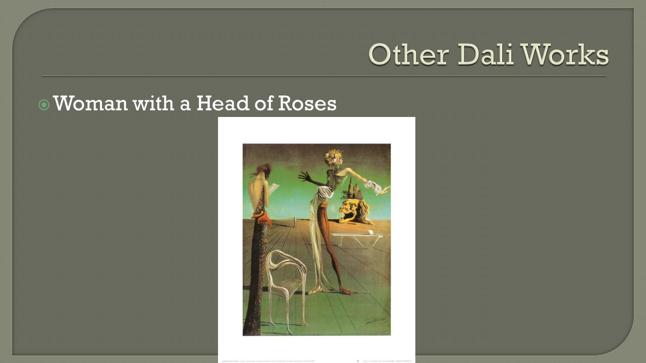  Woman with a Head of Roses