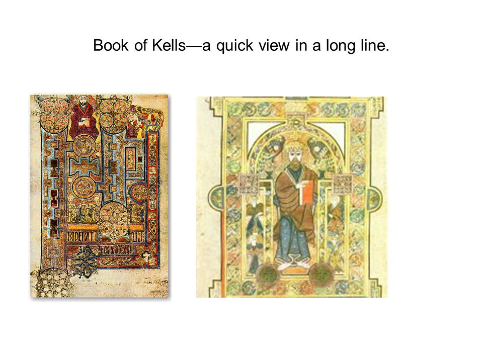 Book of Kells—a quick view in a long line.