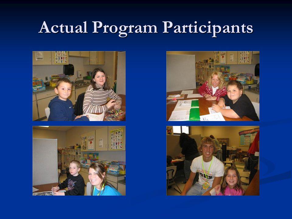 Actual Program Participants