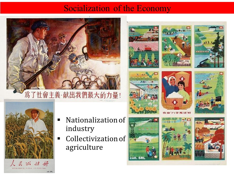 Socialization of the Economy  Nationalization of industry  Collectivization of agriculture