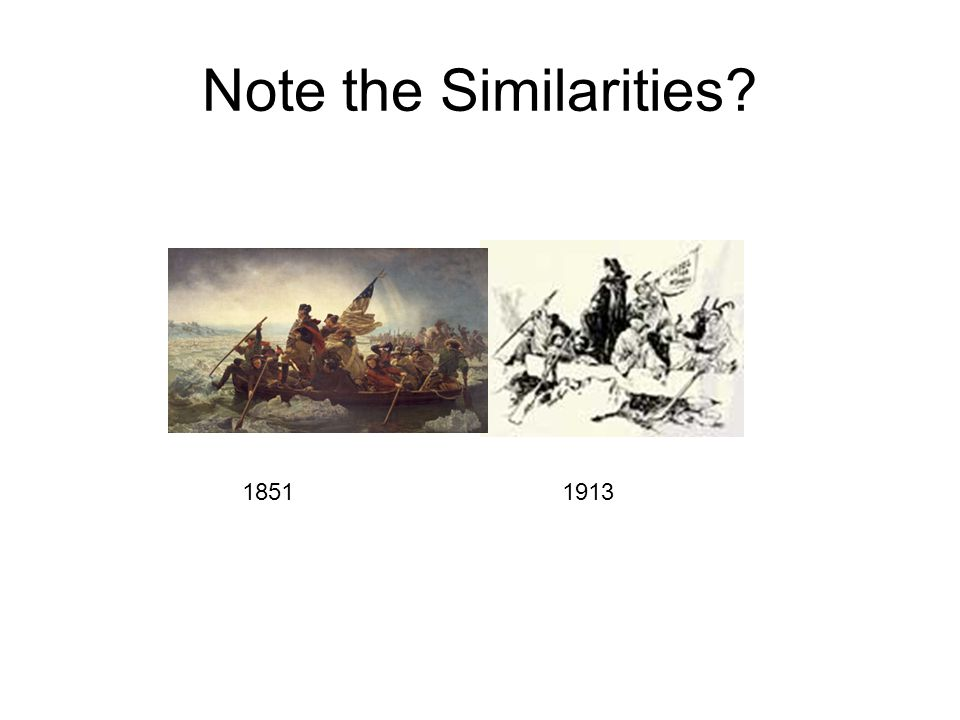 Note the Similarities? 18511913
