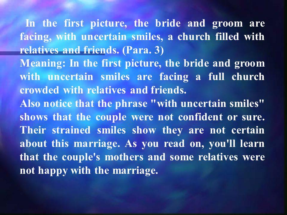 We begin with a worn wedding album.(Para.