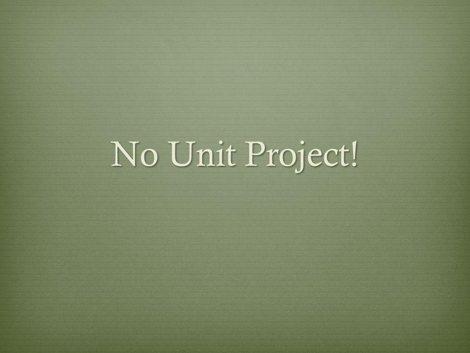 No Unit Project!