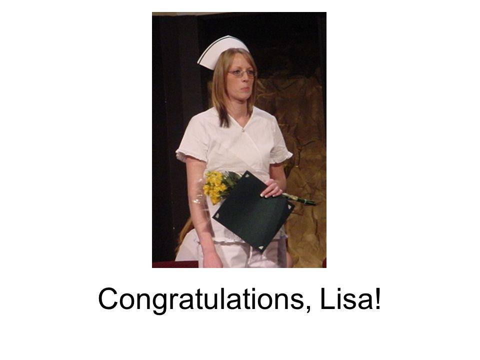 Congratulations, Lisa!