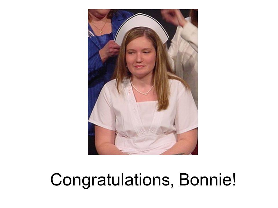 Congratulations, Bonnie!