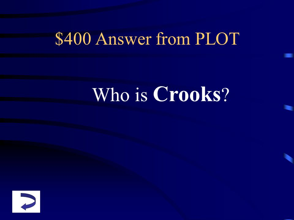$400 Answer from PLOT Who is Crooks ?